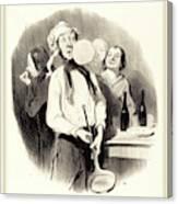 Honoré Daumier French, 1808-1879, Les Crêpes Canvas Print