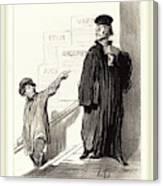 Honoré Daumier French, 1808-1879, Un Plaideur Peu Satisfait Canvas Print