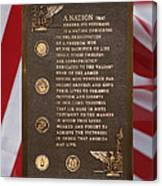 Honor The Veteran Signage With Flags 2 Panel Composite Digital Art Canvas Print