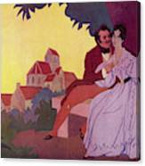 Honore De Balzac With His  Greatest Canvas Print