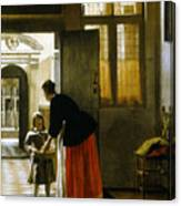 Hooch Boy & Bread, C1663 Canvas Print
