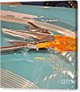 1955 Pontiac Hood Ornament Canvas Print