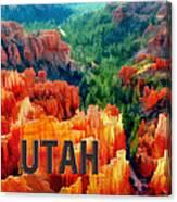 Hoodoos In Bryce Canyon Utah Canvas Print