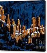 Hoodoos In Shadows Bryce Canyon National Park Utah Canvas Print