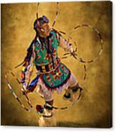 Hooping His Heart Out Canvas Print