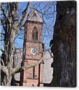 Hoosick Falls Brick Church Canvas Print