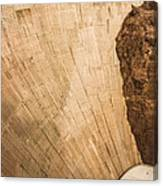 Hoover Dam 589ft Canvas Print