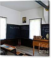 Hoover Historic Site Schoolhouse Classroom Canvas Print