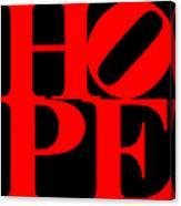Hope 20130710 Red Black Canvas Print
