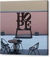 Hope And Chairs Canvas Print