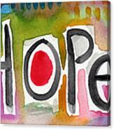 Hope- Colorful Abstract Painting Canvas Print