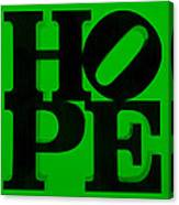 Hope In Green Canvas Print