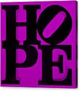Hope In Purple Canvas Print