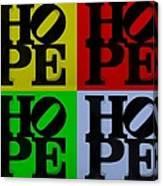 Hope In Quad Colors Canvas Print