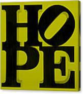 Hope In Yellow Canvas Print