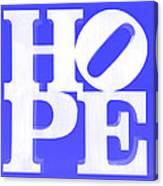 Hope Inverted Blue Canvas Print