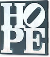 Hope Inverted Denim Canvas Print