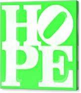 Hope Inverted Green Canvas Print