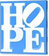 Hope Inverted Light Blue Canvas Print