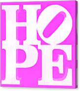 Hope Inverted Pink Canvas Print