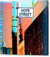 Hope Street Canvas Print