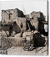 Hopi Hilltop Indian Dwelling 1920 Canvas Print