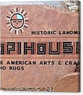 Hopihouse Sign Canvas Print