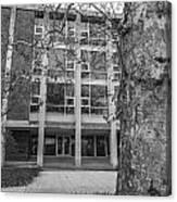 Hopkins Hall Black And White Canvas Print