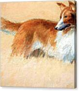 Hopper's Cape Cod Evening -- The Dog Canvas Print