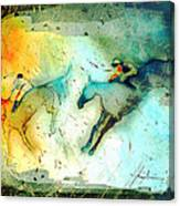 Horse Racing 02 Madness Canvas Print