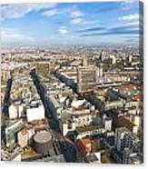 Horizontal Aerial View Of Berlin Canvas Print