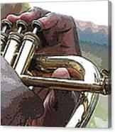 Horn Player 0072 Canvas Print