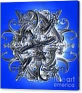 Horned Circle Blue Canvas Print