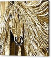 Horse Abstract Neutral Canvas Print