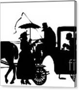 Horse And Carriage Silhouette Canvas Print