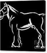 Horse - Big Fella Canvas Print