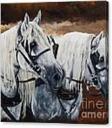 Horse Collar Workers Canvas Print