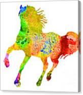 Horse Colorful Silhouette Art Print Watercolor Paintig Canvas Print