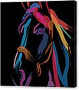 Horse-colour Me Beautiful Canvas Print