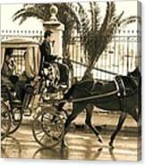 Horse Drawn Carriage Ride Canvas Print