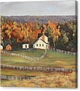Horse Farm Canvas Print
