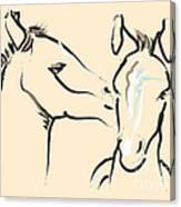 Horse-foals-together 6 Canvas Print