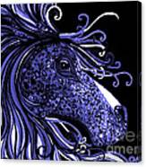 Horse Head Blues Canvas Print