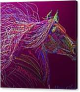 Horse Of Fire Canvas Print