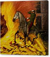 Horse On The Fire Canvas Print