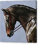 Horse Painting - Discipline Canvas Print