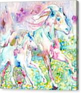 Horse Painting.17 Canvas Print