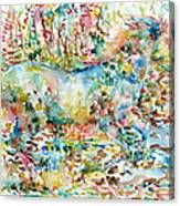 Horse Painting.20 Canvas Print