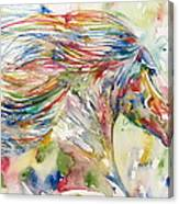Horse Painting.24 Canvas Print