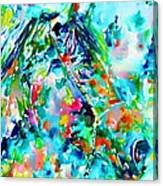 Horse Painting.30 Canvas Print
